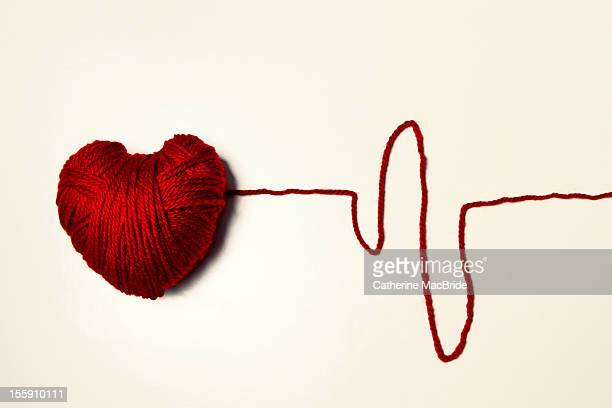 Red Heart Shaped Yarn