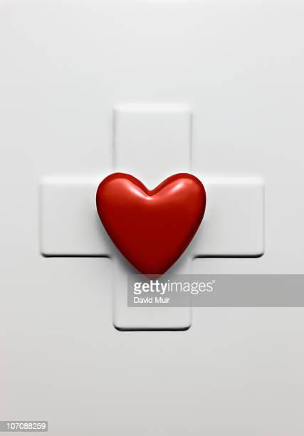 red heart white cross