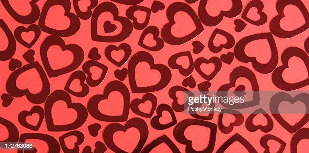 Red Hearts Background Full Frame Horizontal