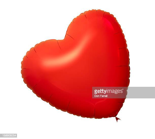 Red heart-shaped balloon