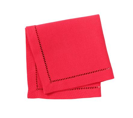 red hemstich napkin 637519592