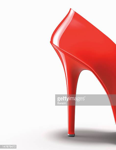 Red high-heeled shoe