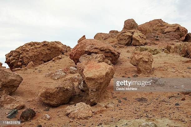 Red Hill one of the four Salton Buttes small volcanoes on the southern San Andreas Fault at the Salton Sea is seen on July 6 near Calipatria...