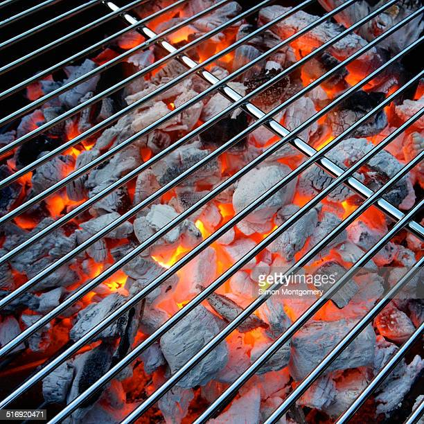 Red hot BBQ grill