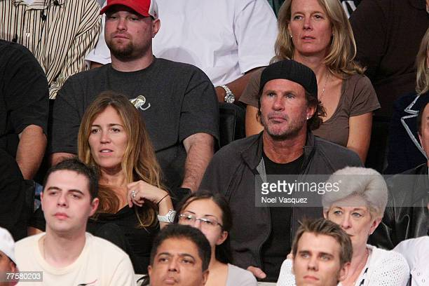 Red Hot Chili Pepper drummer Chad Smith attends the LA Lakers Home Opener at the Staples Center on October 30, 2007 in Los Angeles, California.