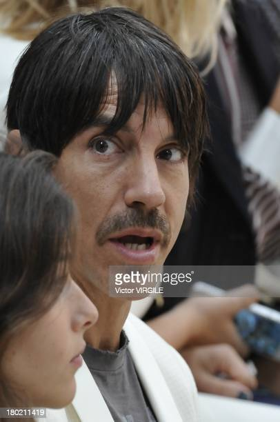 Red Hot Chili Pepper singer Anthony Kiedis attends the Tommy Hilfiger Women's Ready to Wear fashion show during MercedesBenz Fashion Week Spring...