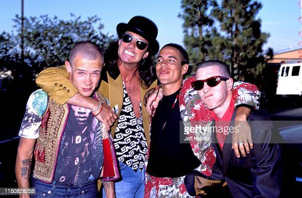 Red Hot Chili Peppers at the 1990 MTV Video Music Awards at in Los Angeles, California.