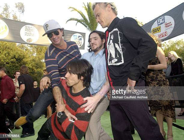 Red Hot Chili Peppers during ESPN Action Sports and Music Awards Arrivals at The Universal Amphitheater in Universal City California United States