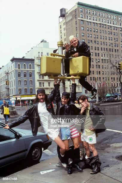 Photo of Anthony KIEDIS and Chad SMITH and John FRUSCIANTE and FLEA and RED HOT CHILI PEPPERS LR Chad Smith Anthony Kiedis John Frusciante with Flea...