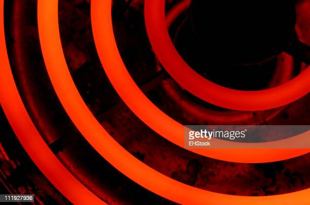 Red Hot Glowing Electric Burner