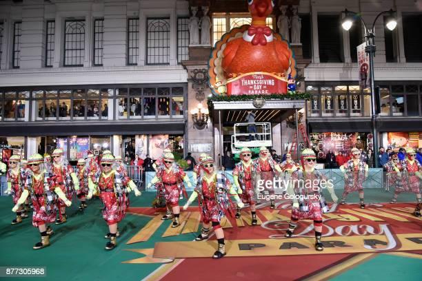 Red Hot Mamas perform at Macy's Thanksgiving Day Parade Talent Rehearsals at Macy's Herald Square on November 21 2017 in New York City