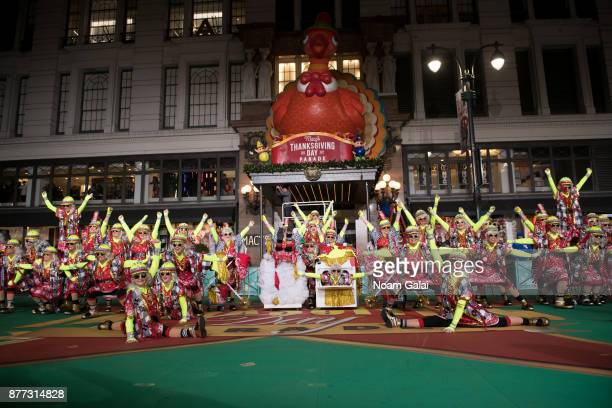 Red Hot Mamas perform at the rehearsals for the 91st Annual Macy's Thanksgiving Day Parade on November 21 2017 in New York City