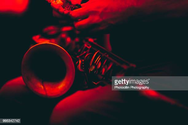 red hot sax - jazz stock pictures, royalty-free photos & images