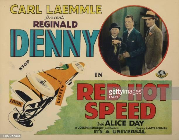 Red Hot Speed lobbycard Reginald Denny 1929
