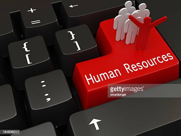 Red human resources key on mechanical keyboard