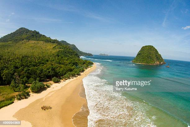 red island beach banyuwangi - east java province stock photos and pictures