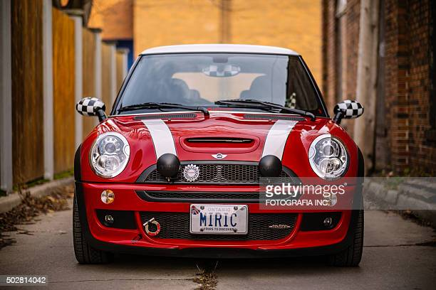 red jcw - mini cooper stock pictures, royalty-free photos & images