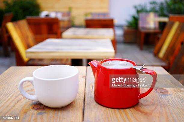 Red Jug And White Cup
