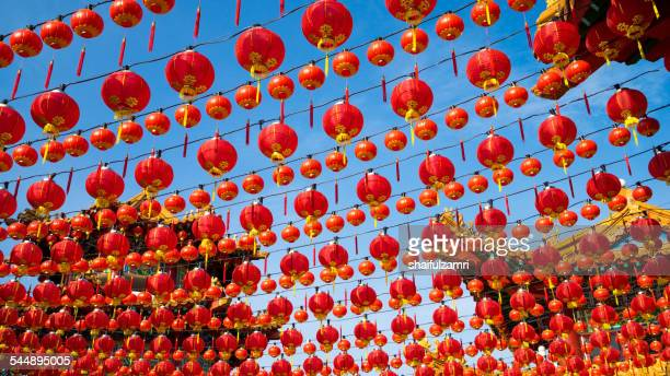 Red lantern and blue sky