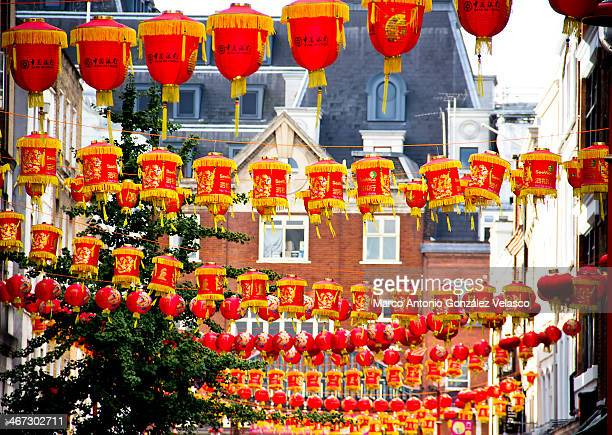 CONTENT] Red lanterns at Chinese New Year in London October 2013