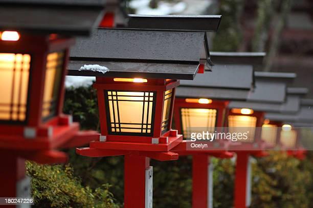 Red lanterns of Japan