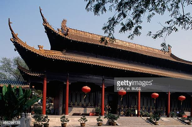 Red Lanterns pavilion of Chaotian Palace Nanjing China rebuilt in the 19th century