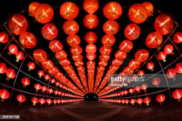 red lanterns - lantern stock photos and pictures