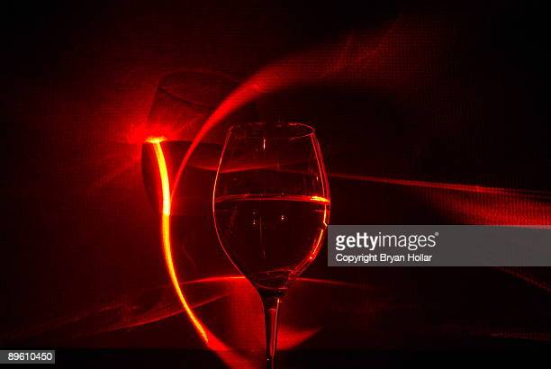 Red Laser and Wine Glass