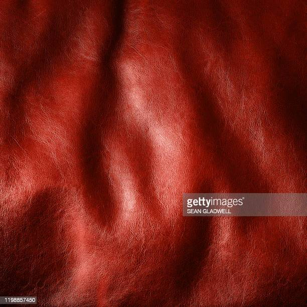 red leather - leather stock pictures, royalty-free photos & images