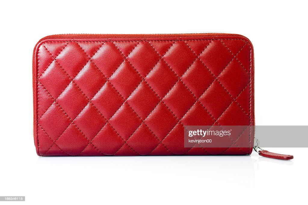 Red Leather Purse : Stock Photo