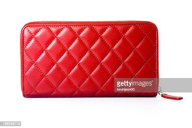 red leather purse - clutch bag stock pictures, royalty-free photos & images