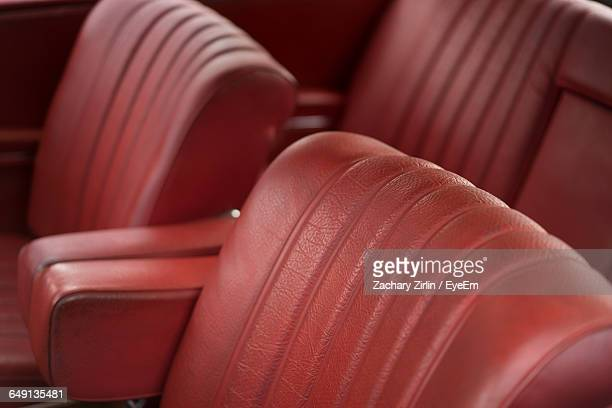 Red Leather Seats In Car