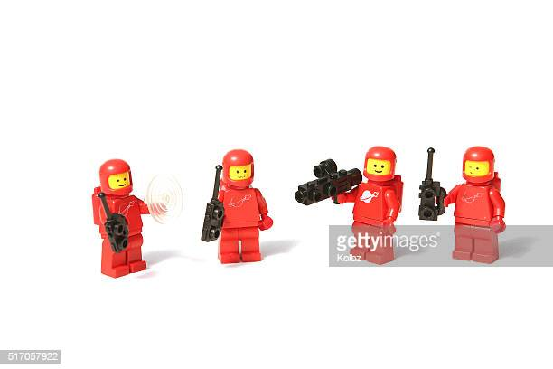 Red Lego Space Mini Figures