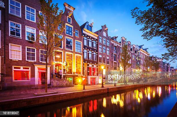 red light district, amsterdam - red light district stock-fotos und bilder