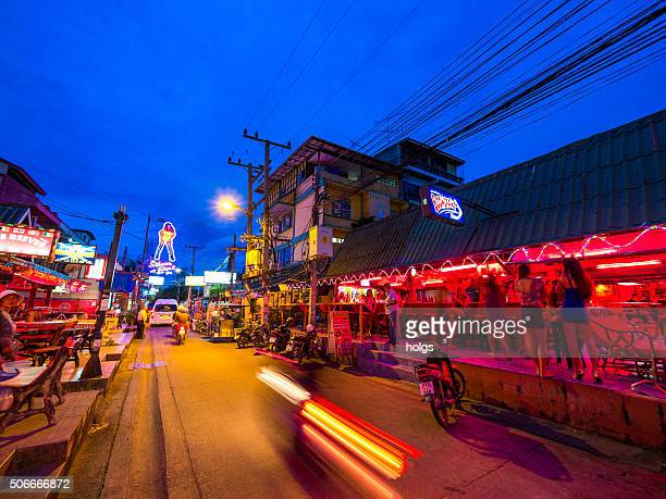 red light district in pattaya, thailand - red light district stock photos and pictures