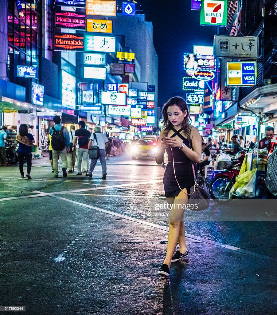 Red Light District Patpong Bangkok Thailand Stock Photo