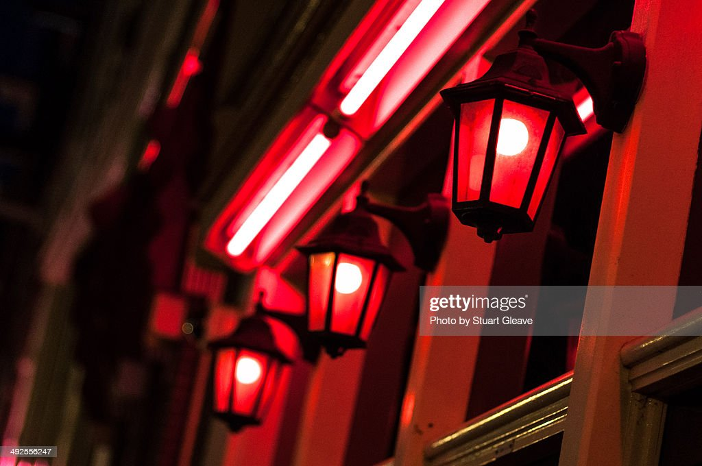 Red light district : Stock Photo