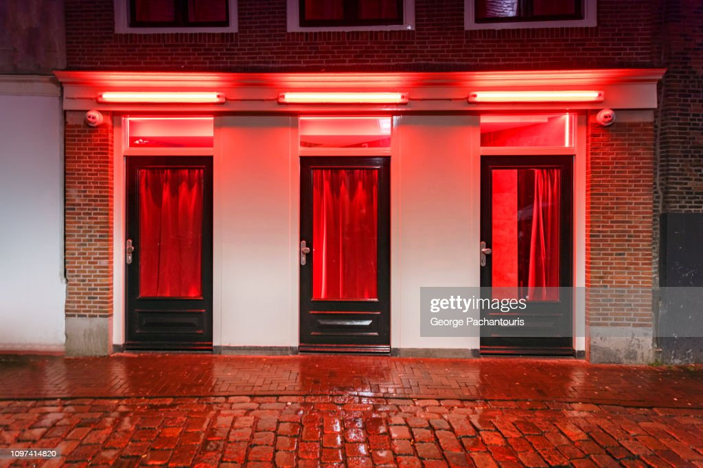 Red light district window : Stock Photo