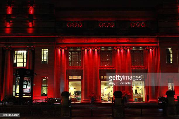 Red light illuminates the National Concert Hall in Dublin Ireland 30th November 2011 The hall is the home of the RTE National Symphony Orchestra
