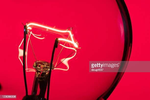 red light macro - filament stock photos and pictures