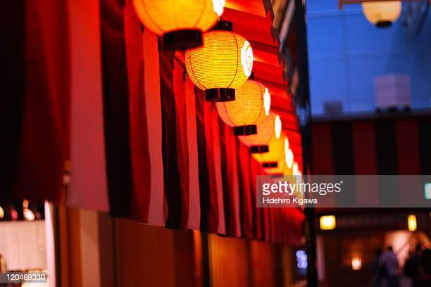 Red light of lanterns