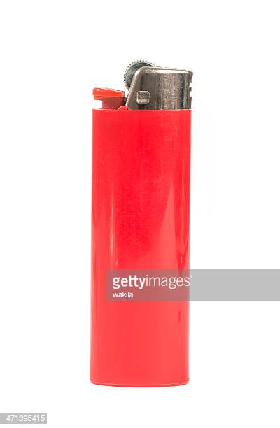 red lighter - red lighter - cigarette lighter stock pictures, royalty-free photos & images