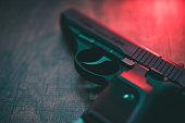 Red lighting hand gun