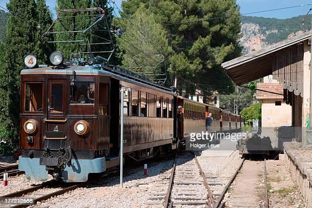 'Red Lightning' Palma to Soller train at Bunyola