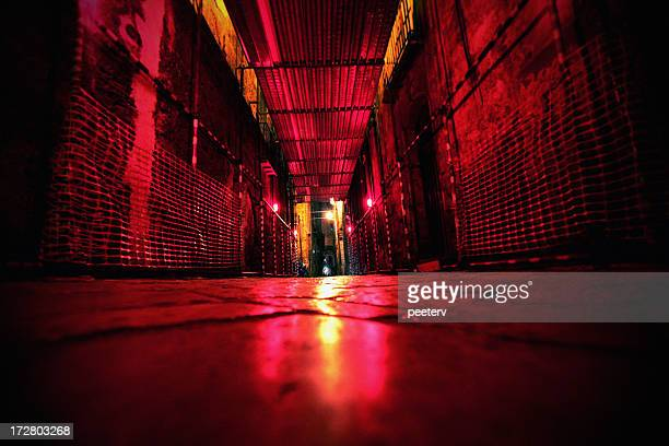red lights backstreet - red light stock pictures, royalty-free photos & images