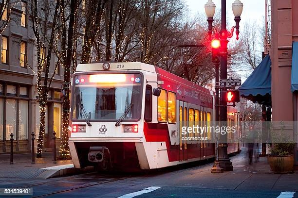 MAX Red Line Train, Downtown Portland