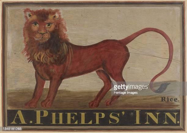 Red Lion Inn Sign, circa 1939. Artist Martin Partyka.