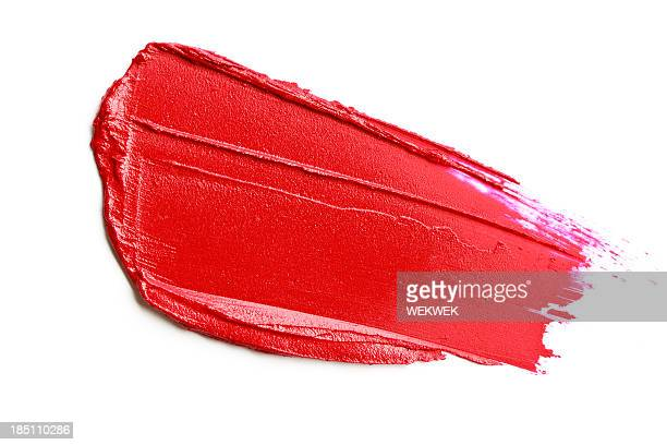 red lipstick smear - smudged stock pictures, royalty-free photos & images