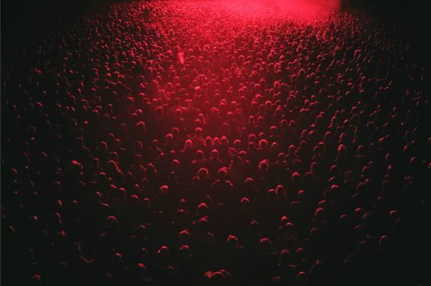 Red Lit Festival Crowd Wall Art