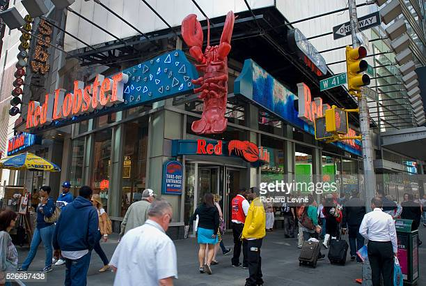 A Red Lobster restaurant in Times Square in New York is seen on Friday April 30 2010 Beyonce's mention of the casual dining restaurant chain Red...
